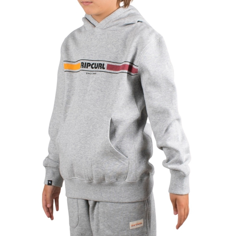 Rip Curl Sudadera Mama Horizon Hood Fleece Boys Cement Marle Gris Niño