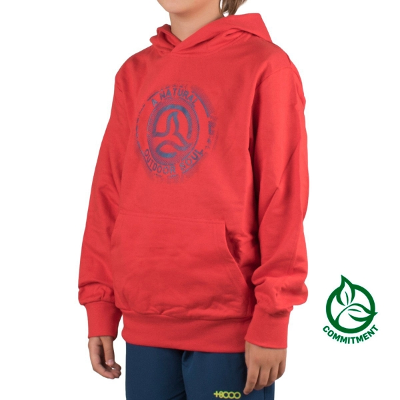 Ternua Sudadera Arhuay Rojo Azul Niño