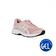 Asics Contend 6 Ginger peach White Rosa palo mujer