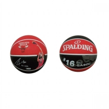 Spalding Balón Baloncesto NBA Player Pau Gasol Chicago Bulls Black Red Talla 7