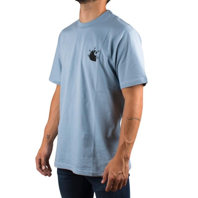 Carhartt Camiseta Nails T-Shirt Frosted Blue Azul Claro Hombre