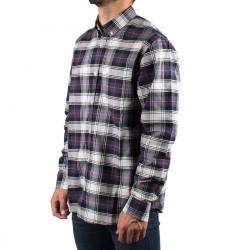 Carhartt Camisa Oxford Steen Check Blue Cuadros Azul Hombre