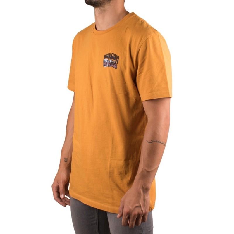 Volcom Camiseta PEARYS Inca Gold Amarillo Hombre