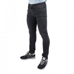 Carhartt Pantalón Rebel Black Mid Worn Wash Negro desgastado Hombre