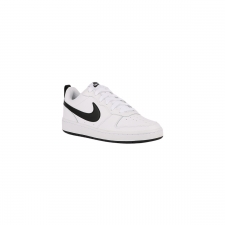 Nike Zapatilla Court Borough White Black Blanco Negro Niño