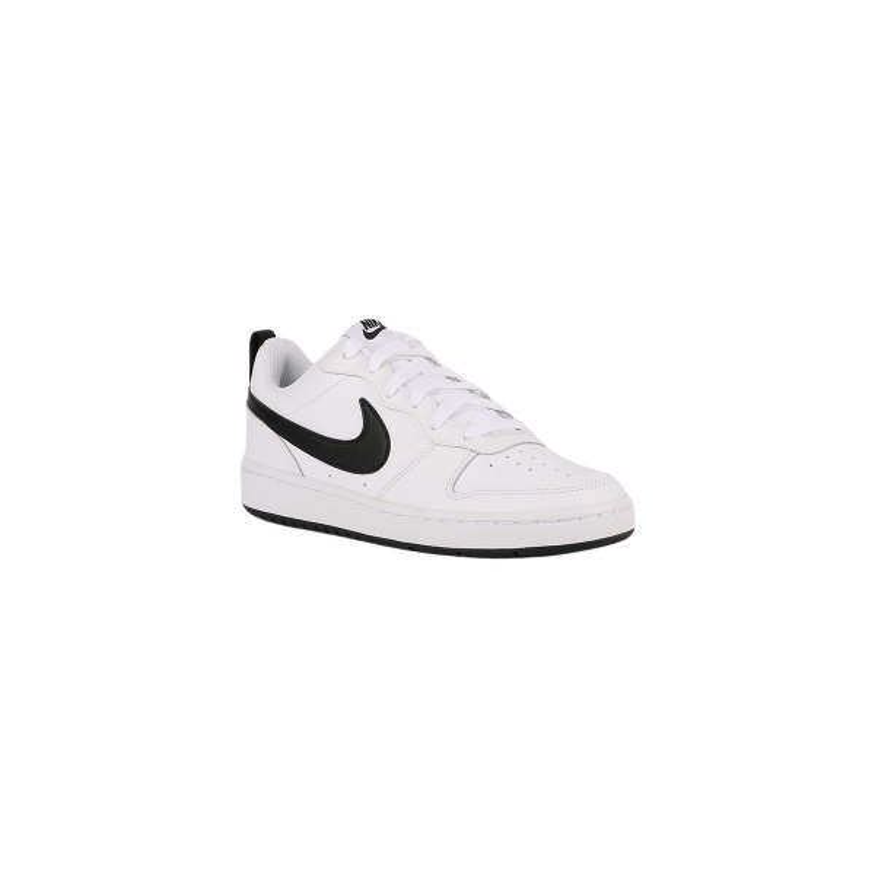 Nike Zapatilla Court Borough White Black Blanco Negro Niño