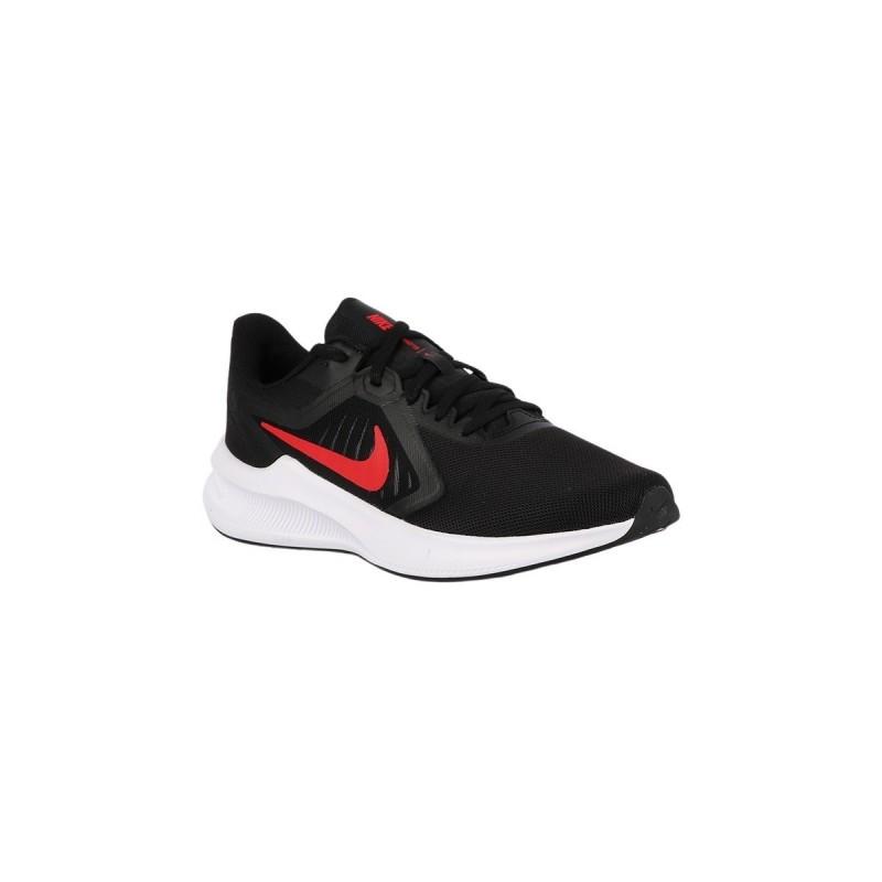 Nike Zapatilla Downshifter Negro Blanco Rojo universitario Hombre