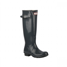 Hunter Bota Original Gloss Tall Rain Boots Graphite Rain Boots Gris Brillante Mujer