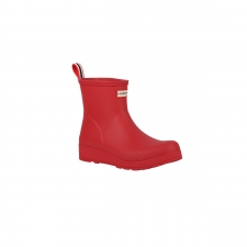 Hunter Bota Corta Original Play Flare Coral Mujer