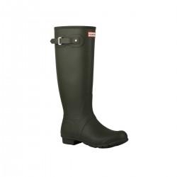 Hunter Bota Original Tall Rain Boots Dark Olive Verde Oscuro Mujer