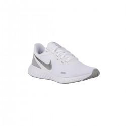 Nike Zapatilla Revolution 5 White Blanco Plata Mujer
