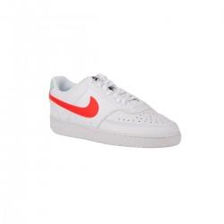 Nike Zapatilla Court Vision Low Blanco Rojo Mujer