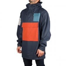 Rains Chubasquero 1242 CAMP ANORAK BLUE RUST PACIFIC MOON Multicolor Unisex