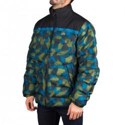 Lacoste Cazadora Sport Colorblock Camuflaje Azul Verde Hombre