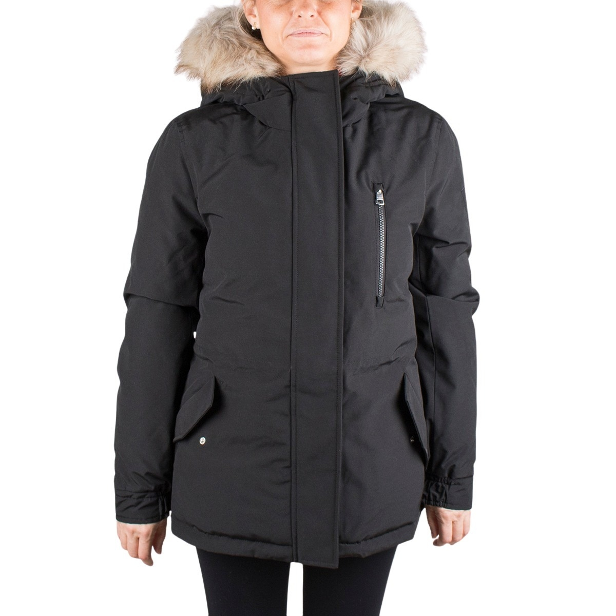 Calvin Klein Chaqueta Hooded Parka Black Negro Mujer