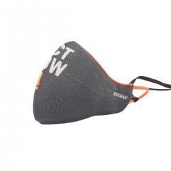 Ecoalf Mascarilla Ion Silver Safety Asphalt 303 Gris Naranja