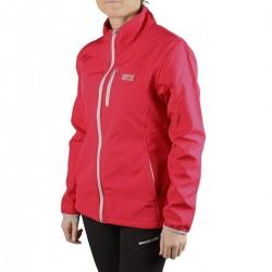Lhotse Softshell Claudia Cont Rose Roja Mujer