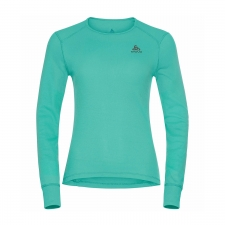 Odlo Camiseta Interior Active Warm ECO Cockatoo Aguamarina Mujer