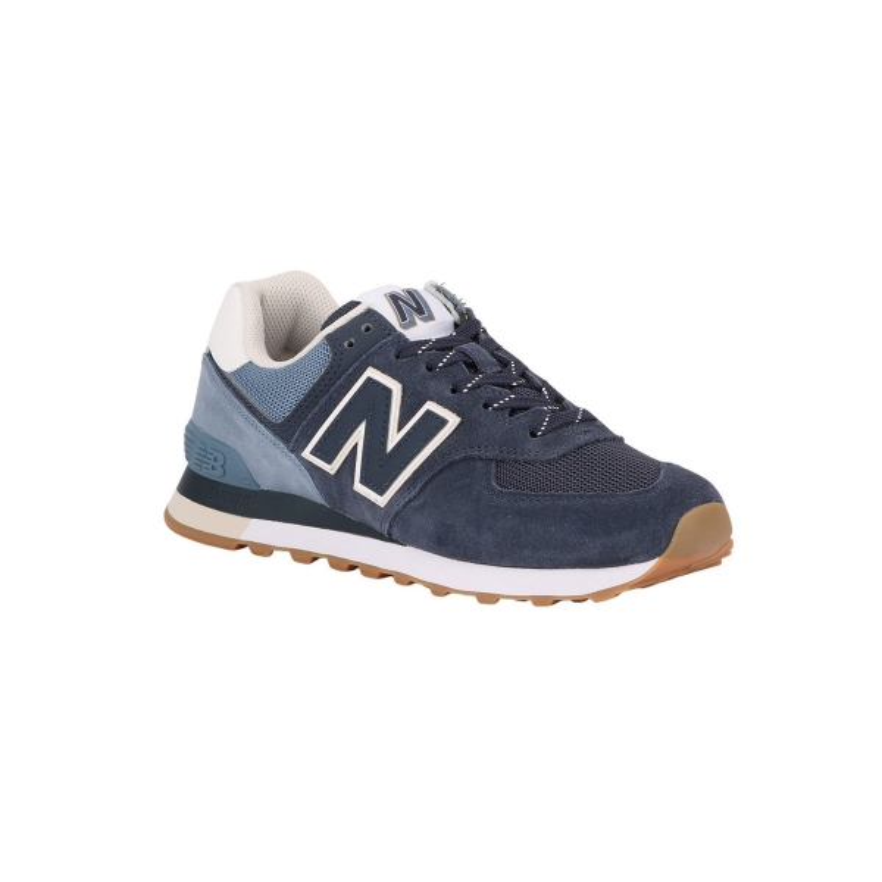 New Balance Zapatilla ML574 GRE Azul Hombre