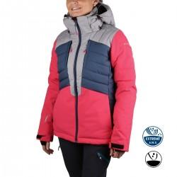 Icepeak Chaqueta de esquí Coleta Rosa Gris Azul Mujer