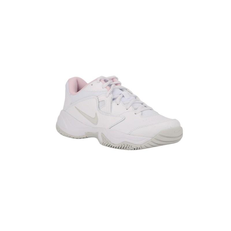 Nike Zapatilla Court Lite 2 Tenis White Dust-Pink Blanco Rosa Mujer