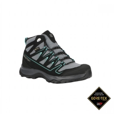 Salomon Bota ONIS MID GTX Stormy Weather Black Negro Gris Mujer