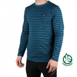 Ternua Camiseta Kennar Dark Lagoon Rayas Azul Hombre
