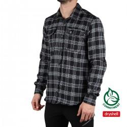 Ternua Camisa Vandum Black Negro Cuadros Hombre