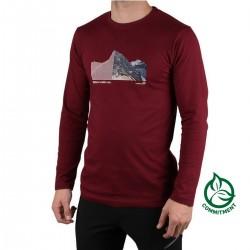 Ternua Camiseta Sekkum Bordeaux Buerdeos Hombre