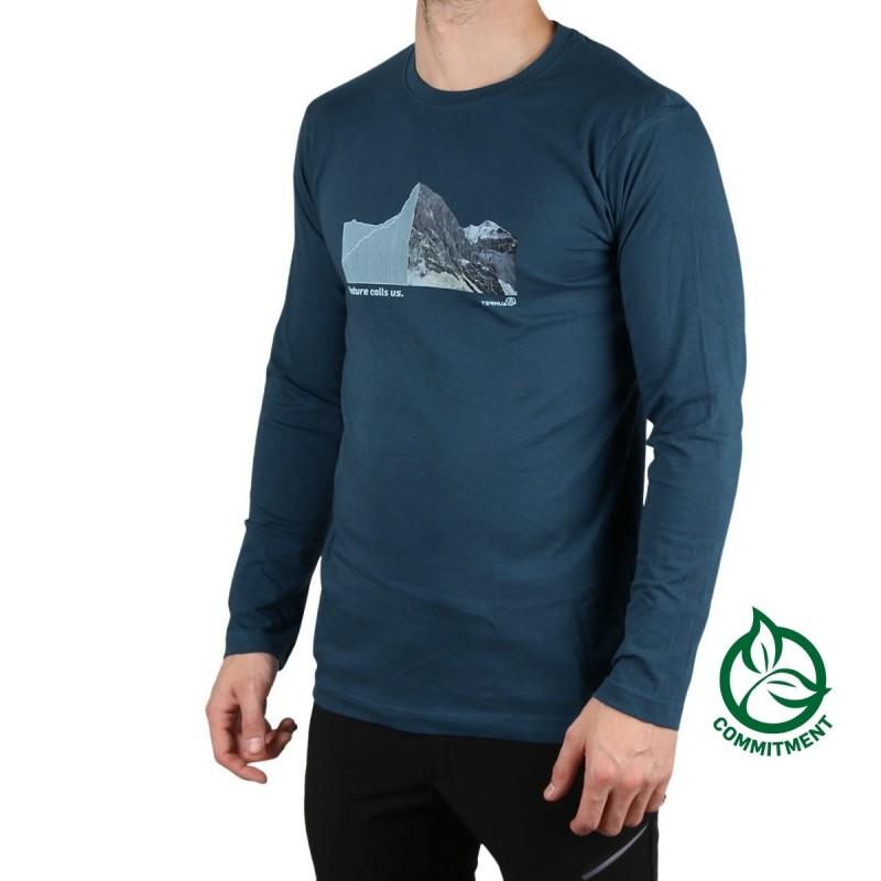 Ternua Camiseta Sekkum Dark Lagoon Azul Hombre