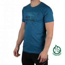 Ternua Camiseta Fraenar Mid Lagoon Azul Hombre