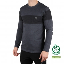 Ternua Camiseta Tarleid Whales Grey Gris Negro Hombre