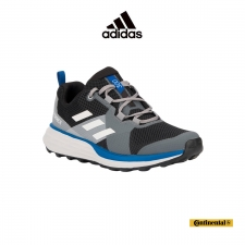 Adidas Zapatilla Terrex Two Core Black Grey One Glow Blue Gris Azul Hombre