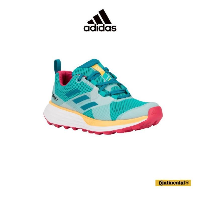 Adidas Zapatilla Terrex Two Hi-Res Aqua Active Teal Solar Gold Aguamarina Mujer