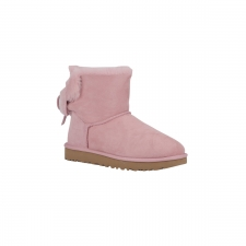 UGG Bota Classic Double Bow Min Pink Crystal Lazo Rosa Mujer