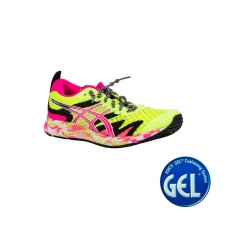 Asics Zapatilla GEL-NOOSA TRI 12 Safety Yellow Pink Glo Amarillo Fluor Rosa Mujer