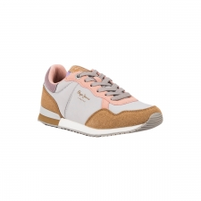 Pepe Jeans Zapatilla ARCHIE BASS GREY MARL Gris Ocre Rosa Mujer