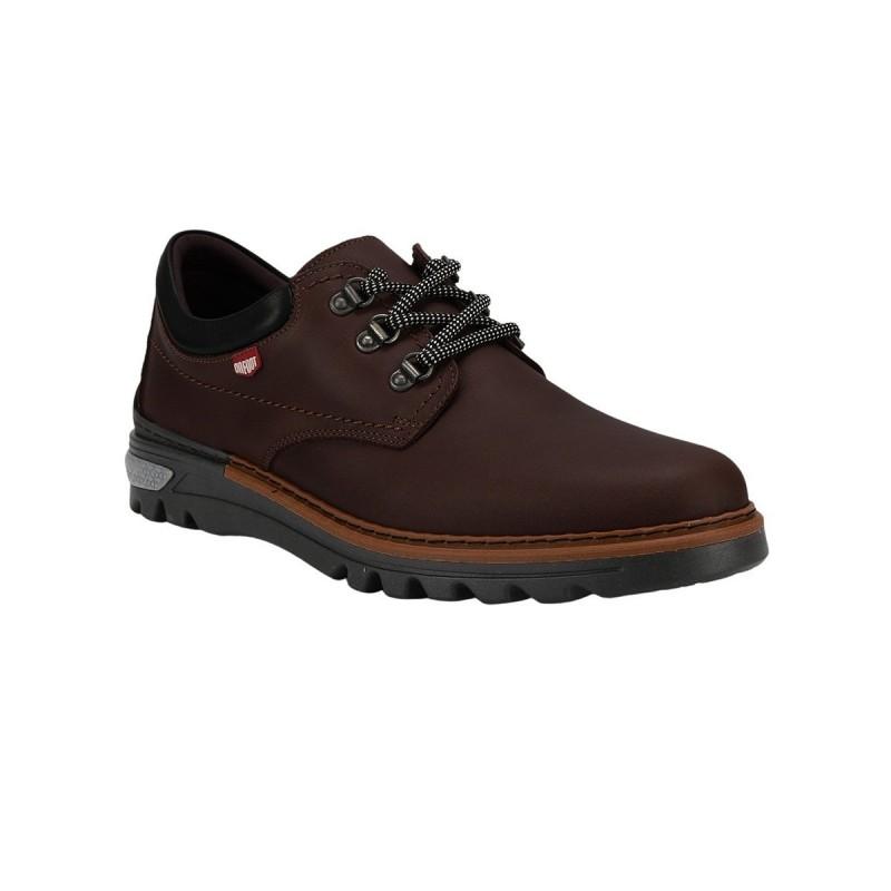 On Foot Zapato BLUCHER ANILLAS CAFE marrón Hombre