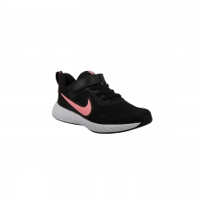 Nike Zapatilla Revolution 5 PSV Black Sunset Pulse Negro Rosa Niño