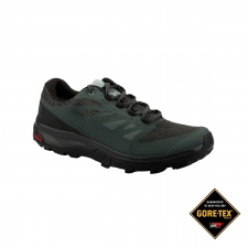Salomon Zapatilla OUTline GTX Urban Chic Black Green Gris Negro Hombre