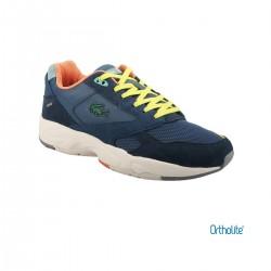 Lacoste Zapatilla STORM Nvy/Trqs Azul Marino Amarillo Naranja Hombre
