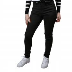 Pepe Jeans Pantalón DION Skinny High Denim Negro Mujer