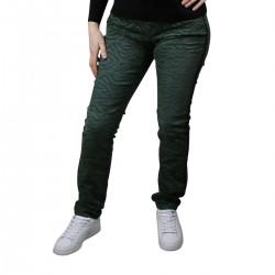 Street One Pantalón 373467 32 12669 Verde Negro Animal Print Mujer