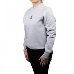 Calvin Klein Sudadera Relaxed Gris con logo plateado Mujer