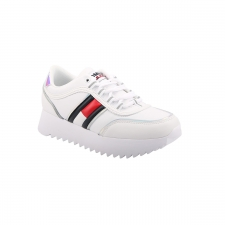 Tommy Hilfiger Zapatilla HIGH CLEATED IRIDISCENT YBR Blanco Mujer