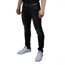 G-Star Jeans Revend Skinny Medium Aged Faced Negro lavado Hombre