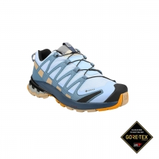 Salomon Zapatilla XA Pro 3D V8 GTX W Kentucky Blue Dark Denim Pale Khaki Azul celeste Mujer