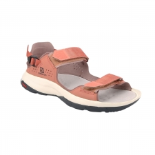 Salomon Sandalia Tech Sandal Feel Cedar Wood Peppercorn Ebony Salmón Mujer