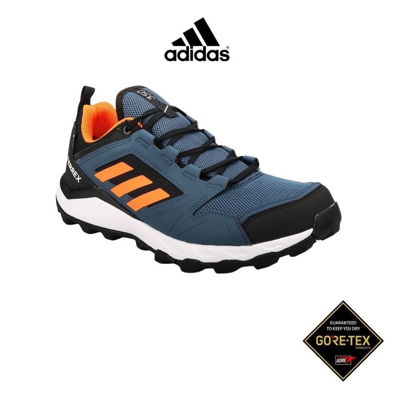 Adidas Zapatilla Terrex Agravic TR GTX Azul Marino Naranja Hombre