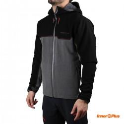 Trangoworld chaqueta Impermeable Badile Inner Plus Gris Negro Hombre